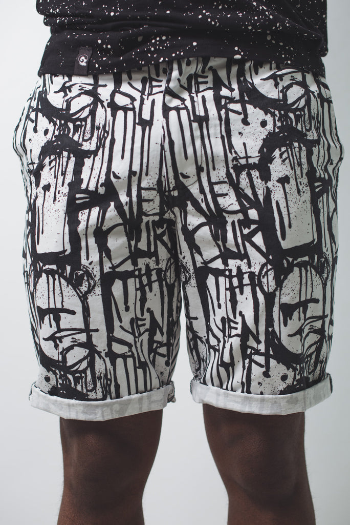 Dripping Short White