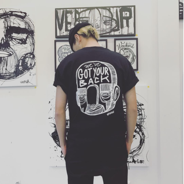 Rotterdam Got Your back - Black Tee
