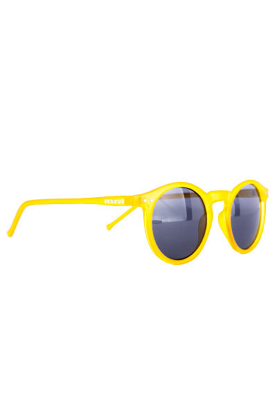 Sol - Yellow round sunglasses