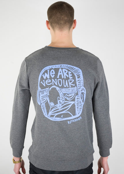 WE ARE VENOUR  - Heather GREY sweater