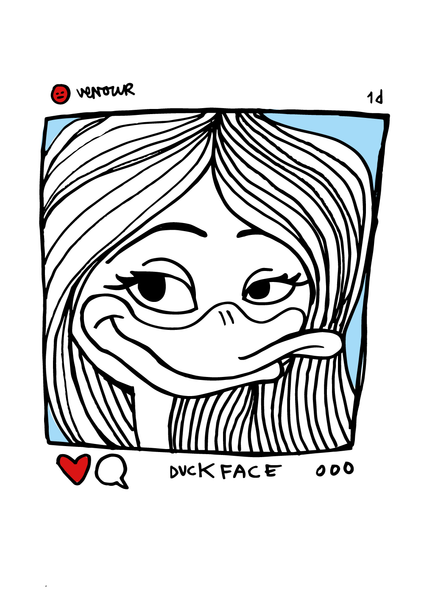 Printed art - Duckface