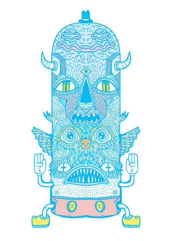 Printed Art - Totem Pole