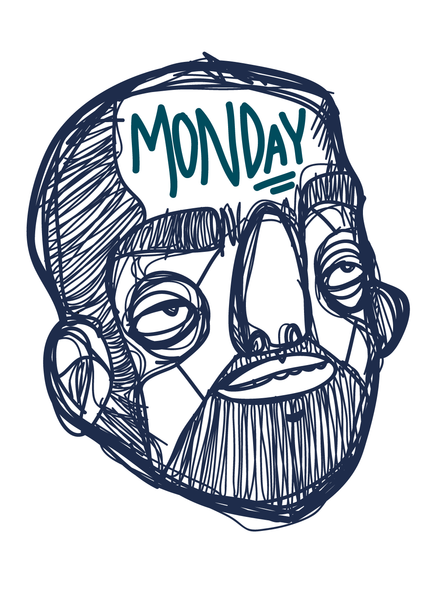 Printed Art - The Face Of Monday