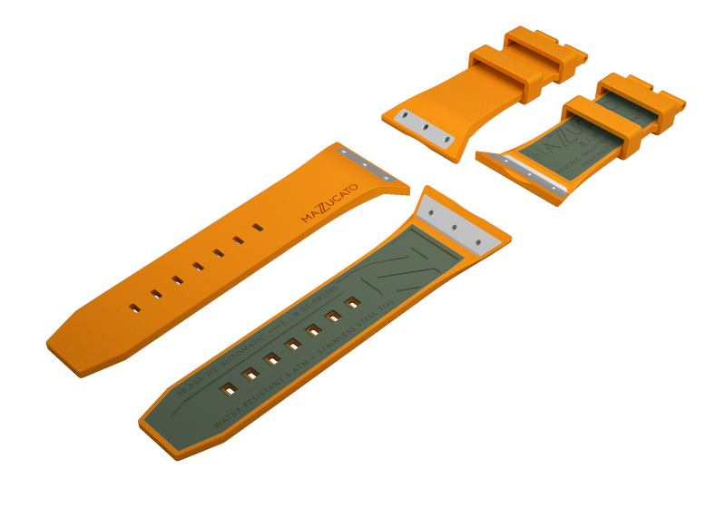 RIM Orange Green Rubber Strap