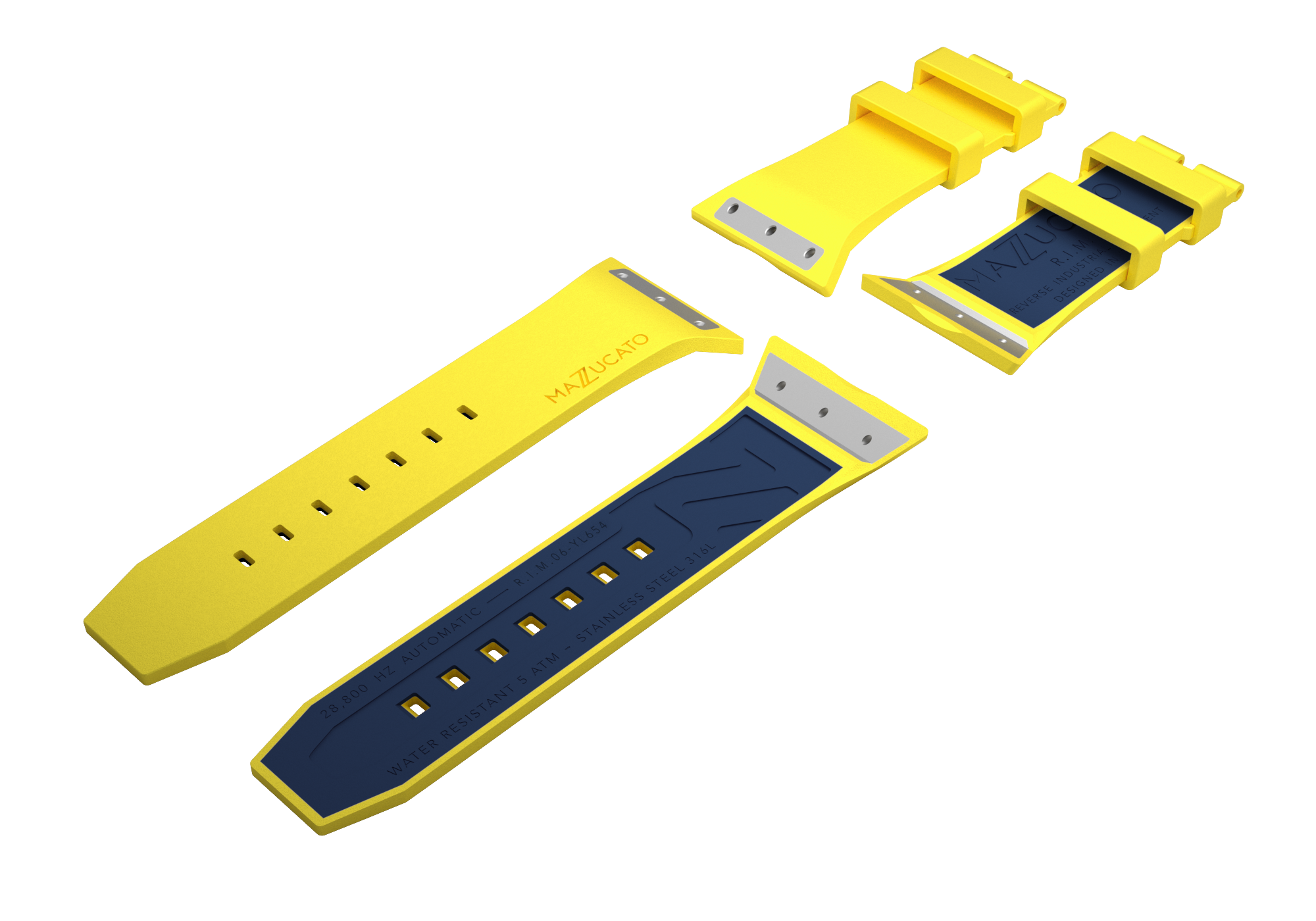 RIM Yellow Blue Rubber Strap