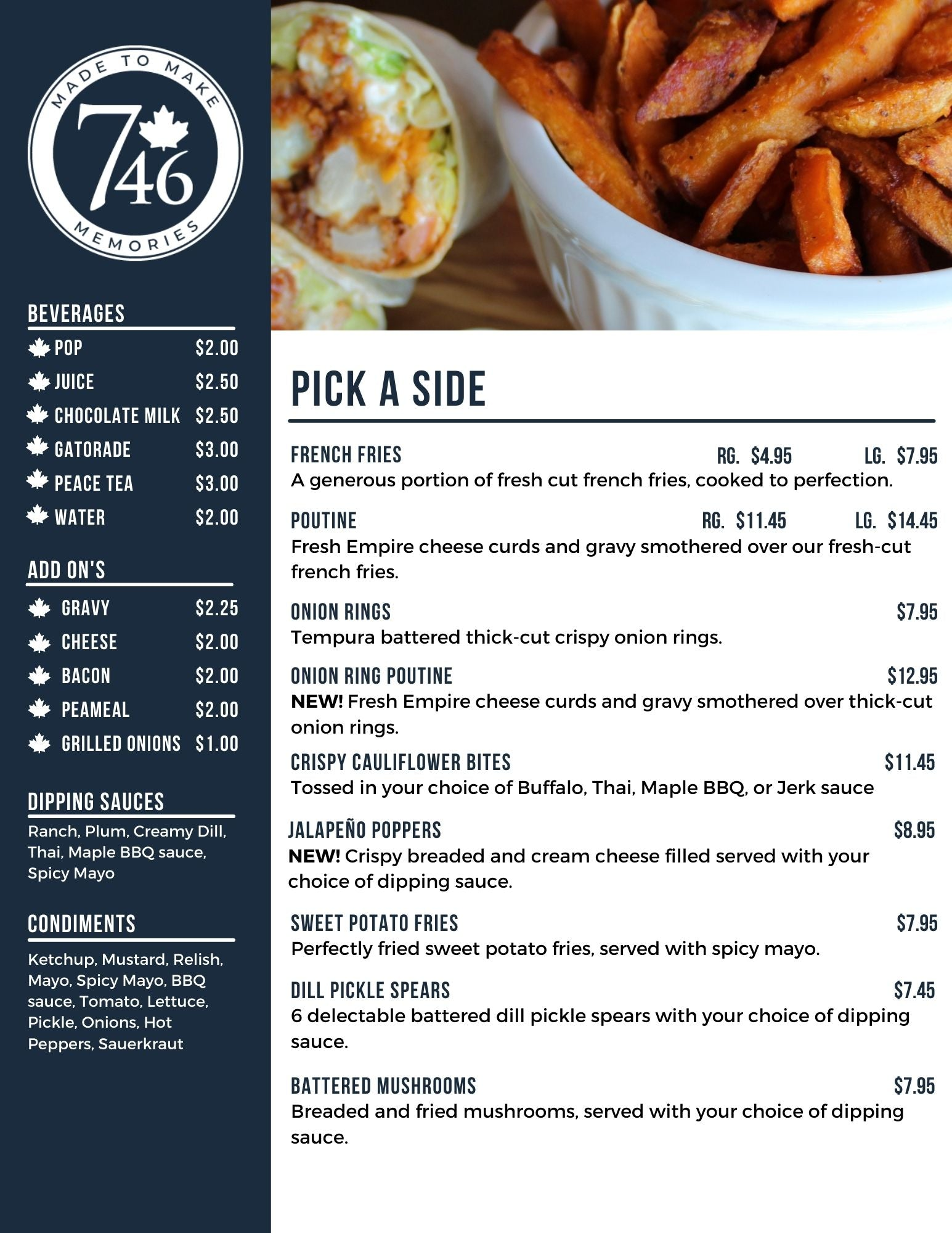 746 Food Truck - Sides and Appetizers