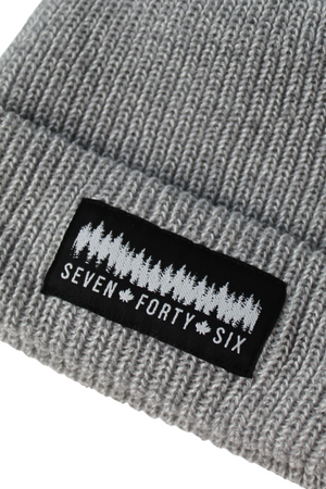 Cardigan Knit Toque - Grey/White