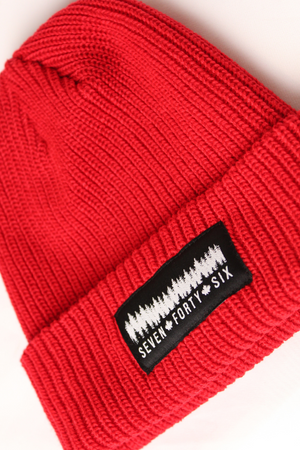 Cardigan Knit Toque - Red