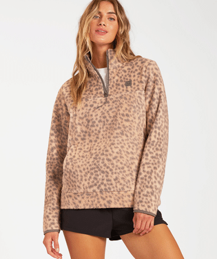 Boundary Mock Neck Fleece - Chai