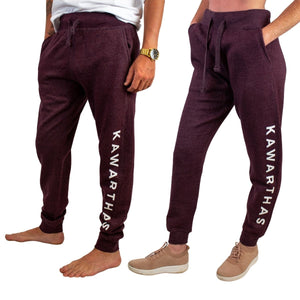 Kawarthas Fleece Joggers - Heathered Wine