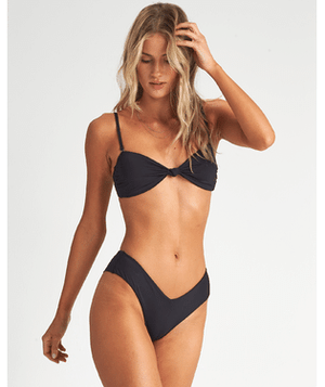 Sol Searcher Fiji Bikini Bottom - Black Pebble