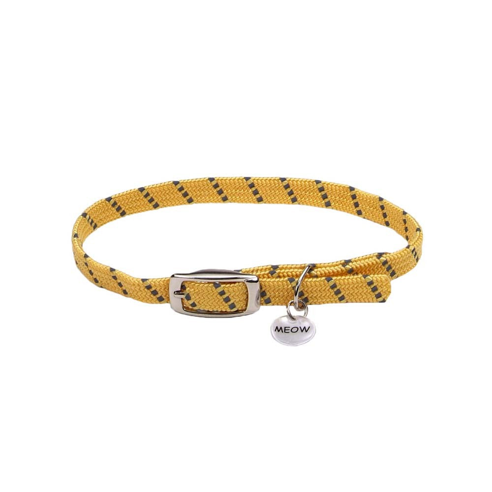 Coastal ElastaCat Reflective Safety Stretch Collar Reflective Charm Yellow 3/8x10