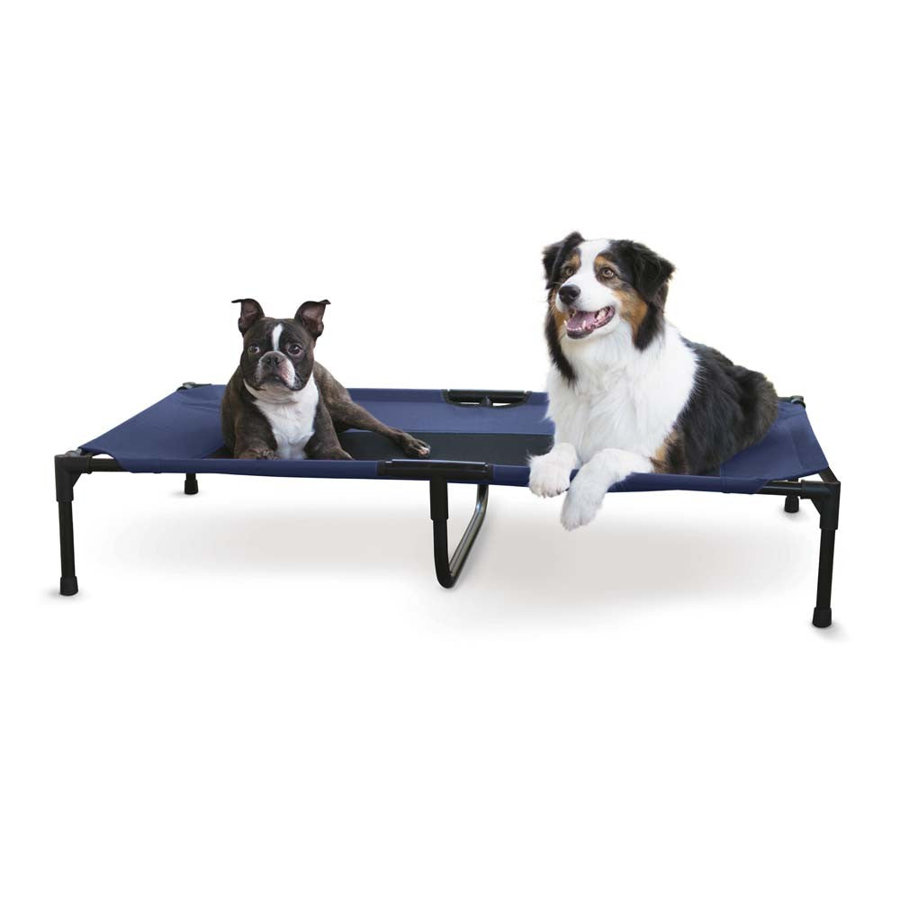 K&H Elevated Pet Bed Navy Blue X-Large 32x50x7