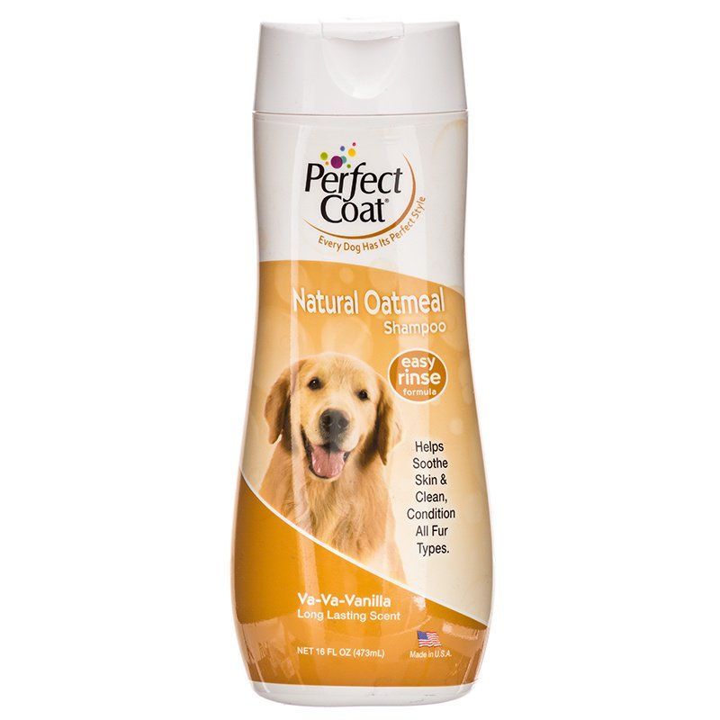 Perfect Coat Oatmeal Shampoo - Vanilla Scent - 16 oz