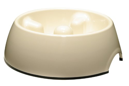 Dogit Go Slow Anti-Gulping Bowl Wht Med