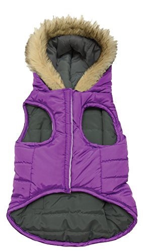 Fashion Pet 701955 Purple Looking' Good! Reversible Puffy Coat, Medium