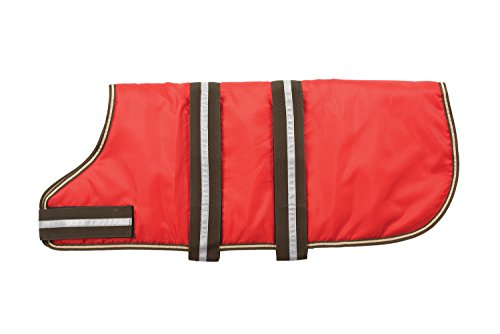 Fashion Pet Outdoor Dog Blanket Coat, X-Small, Red