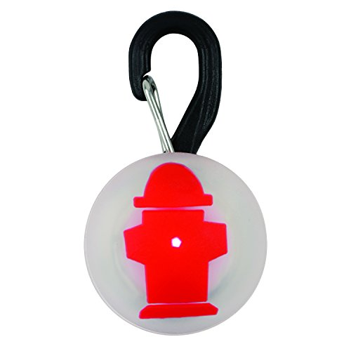 Nite Ize PetLit LED Collar Light, Dog Or Cat Collar Light, Replaceable Batteries, White LED Fire Hydrant Design