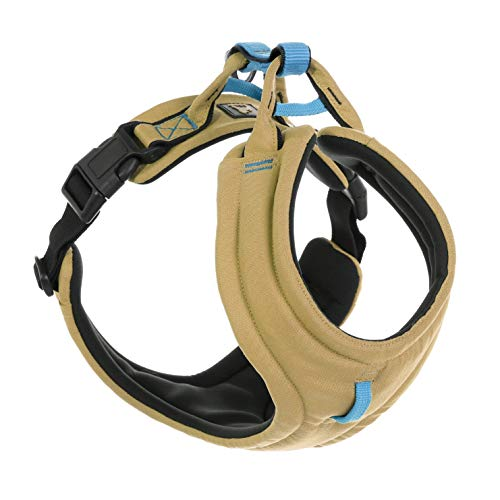 Gooby - Lite Gear Harness, Memory Foam Padding with Front Clip, Sand, Large
