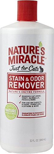 Nature's Miracle Just for Cats Stain & Odor Remover, 32-Ounce Pour Bottle (HG-5158)