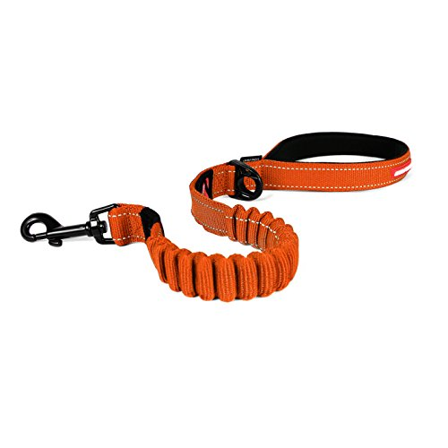 "EzyDog ZERO SHOCK Leash - Best Shock Absorbing Dog Leash, Control & Training Lead (25"" Orange)"