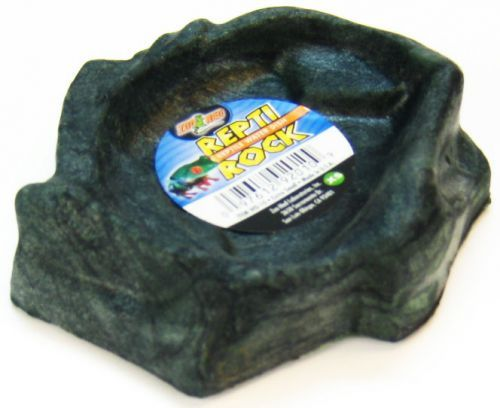 "Zoo Med Repti Rock - Reptile Water Dish - X-Small (4.5"" Long x 4"" Wide)"