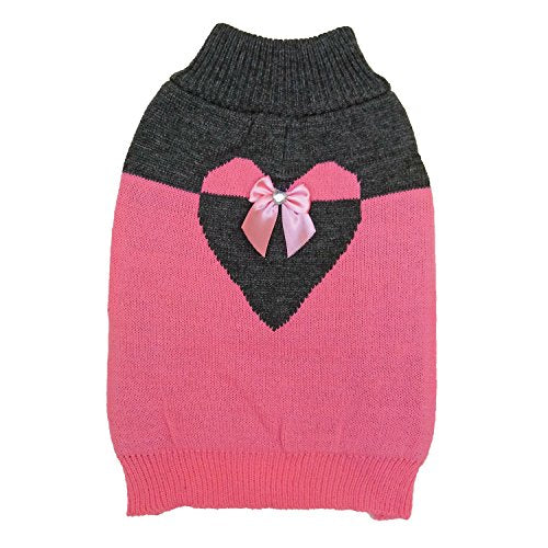 Fashion Pet Love U Sweater Pink Large