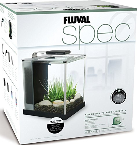 Fluval Spec III Aquarium 2.6 gal Black