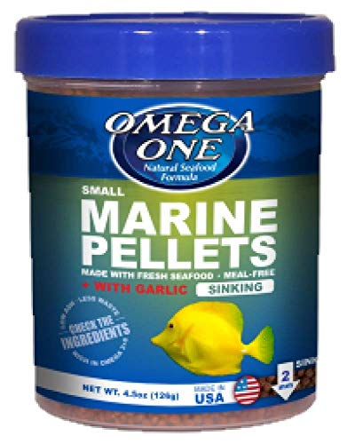 Omega One Garlic Marine Pellets, Sinking, 2mm Small Pellets, 4.5 oz