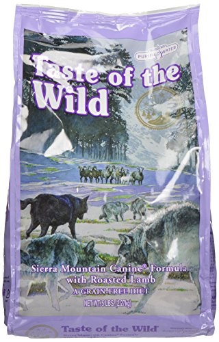 Taste of the Wild Sierra MTN Canine with Roasted Lamb Food for Pets, 5 Pound