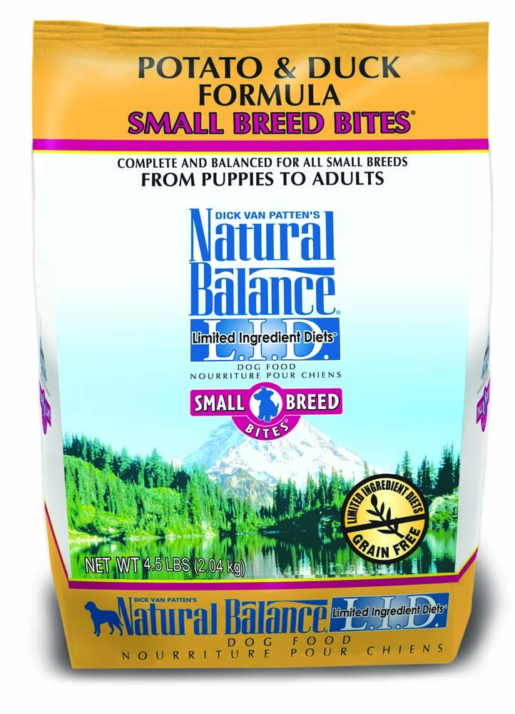 Natural Balance LID Potato & Duck Small Breed Bites Dry Dog Food 4.5lb