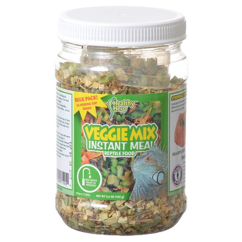 Healthy Herp Veggie Mix Instant Meal Reptile Food - 3.6 oz