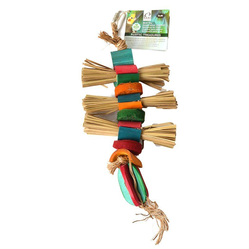 Hari Rustic Treasures Grass Bundles Bird Toy - Medium - (Assorted Colors)