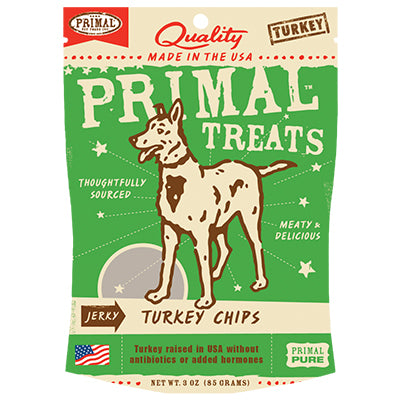 Primal Dog Turkey Chips 3oz Bag