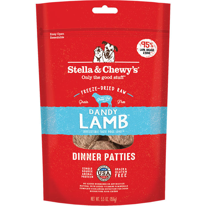 Stella & Chewy'S Dog Freeze-Dried Lamb Dinner Patties 5.5oz