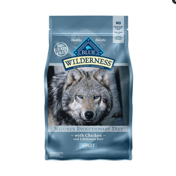 Blue Wilderness Nature's Evolutionary Diet Grain Free Chicken Adult Dog Food 4.5 Lbs