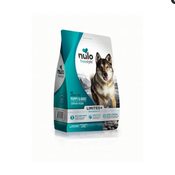 Nulo FreeStyle Limited+ Grain Free Salmon Dry Dog Food 22lbs