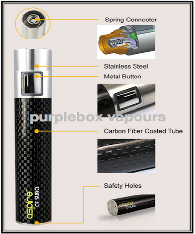 aspire CF sub ohm battery from purplebox vapours