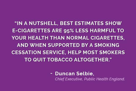 Is vaping safe? See what the Chief Executive of Public Health England has to say on the matter.