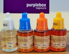 purplebox vapours e-liquid nicotine content