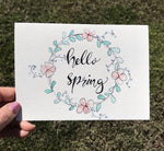 Hello Spring Notecard