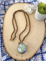 Abalone & Sandalwood Necklace