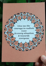 """Radiate love"" art cards (set of 5)"