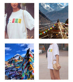 """Om mani padme hum"" Oversized T-shirt in White"
