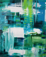 Blue Green Options Original Painting by Laurie Martineau