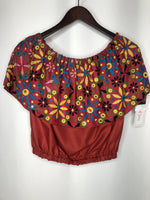 Vintage Banjara Burgundy Crop top