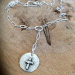 "HOPE ~ LOVE cross ""Y"" necklace"