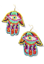 Beaded Hand Earrings