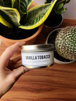 Vanilla Tobacco - all natural soy candle, vegan friendly, eco friendly