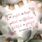 Be Joyful in Hope Bible Verse Print